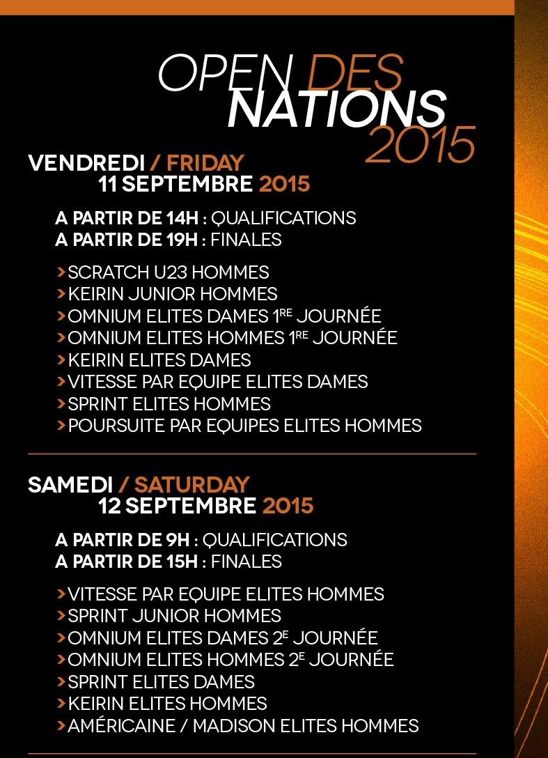open des nations roubaix 2015 programme